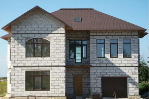 Фото дом из газобетона
